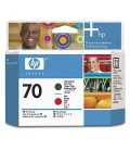 HP 70 Matte Black & Red Printhead (C9409A  )