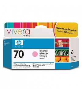 HP 70 130 ml Light Magenta Ink Cartridge with Vivera Ink (C9455A)