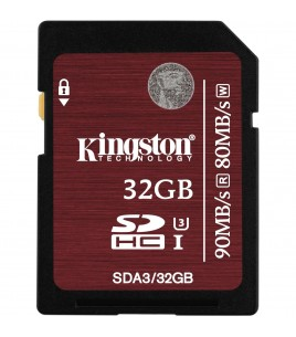 Kingston SDHC 32GB UHS-I Speed Class 3 (SDA3/32GB)