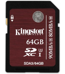 Kingston SDXC 64GB UHS-I Speed Class 3 (SDA3/64GB)