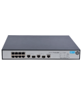 HP 1910-8 -PoE+, 8-port Fast Ethernet advanced smart managed switch with 62W of PoE power, 2xSFP (JG537A)