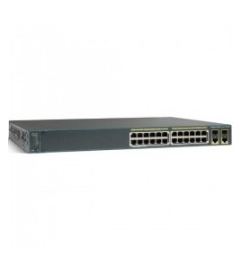 Cisco Catalyst 2960-Plus 24-port Enterprise Switch, 24x10/100, 2xSFP/GLAN (WS-C2960+24TC-L)