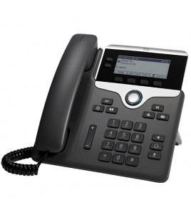 Cisco IP Phone 7821, 2-Line IP Phone with 2-Port Ethernet Switch, PoE, and LCD Display (CP-7821-K9)