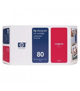 HP 80 Magenta Ink Cartridge,175ml (C4874A )