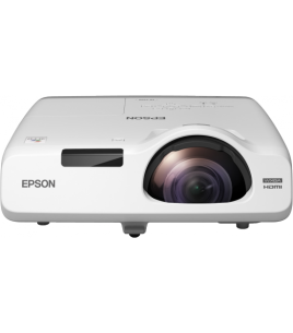 Epson EB-525W 3LCD Short-throw Projector, 1280x800, 16:10, 2800 Lumen, 16000 : 1, HDMI, VGA, USB, LAN (V11H672040)