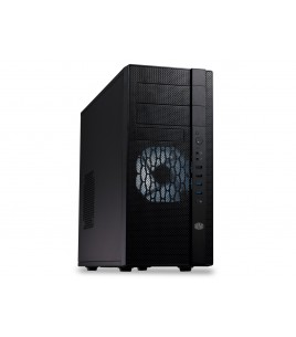 CoolerMaster N400 Midi Tower, ATX, Black with LED Fan (NSE-400-KKN1)