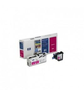 HP 81 Magenta Dye Printhead and Cleaner (C4952A)
