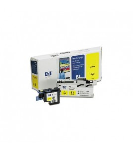 HP 81 Yellow Dye Printhead and Cleaner (C4953A)