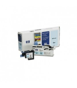 HP 81 Light Cyan Dye Printhead and Cleaner (C4954A)