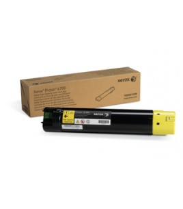 Xerox High Capacity Laser Toner, 12K, Yellow for Phaser 6700 (106R01509)