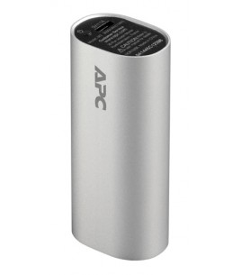 APC Mobile Power Pack, 3000mAh Li-ion cylinder, Silver (M3SR-EC)