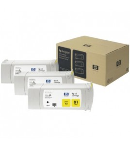 HP 81 Dye 3-Ink Multipack, Yellow  (C5069A)