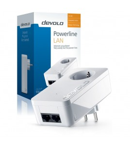 Devolo Powerline dLAN 550 duo+, 2xRJ45, Passthrough (9296)