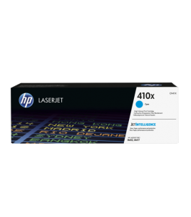 HP 410X High Capacity LaserJet Toner Cartridge, Cyan (CF411X)