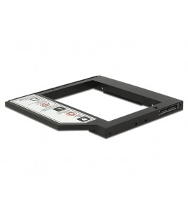 Delock Slim SATA 5.25-inch Installation Frame for 2.5-inch HDD up to 9.5 mm (62669)
