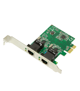 LogiLink 2-Port Gigabit LAN PCI-Express Card (PC0075)