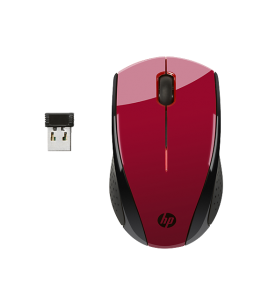 HP X3000 Wireless Optical Mouse, Red (K5D26AA)