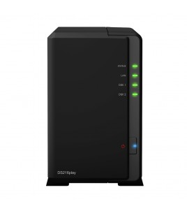 Synology DiskStation DS216play, 2-Bay NAS Server, USB3.0, USB2.0, GLAN