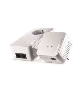 Devolo dLan 550 WiFi, 1x WiFi 300 Mbps, Powerline 2xRJ-45 w/ Passthrough, Starter Kit