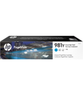 HP 981Y Laser Toner, Extra High Yield Cyan PageWide (L0R13A)