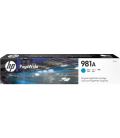 HP No 981A, Laser Toner, Cyan PageWide