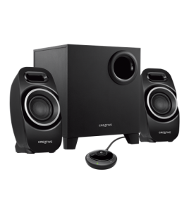 Creative T3250, 2.1 Bluetooth Wireless Desktop Speaker System, Black (51MF0450AA000)
