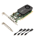 PNY nVidia NVS 510 for Quad DP Low Profile, 128-bit, 2GB DDR3, 4xmini-DP