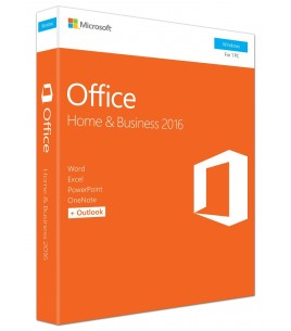 Microsoft Office 2016 Home & Business English, Medialess P2, 1 Device (T5D-02826)