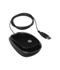 HP X1200 Sparkling Black Wired Mouse (H6E99AA)
