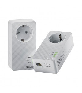Asus 600 Mbps Gigabit powerline adapter, Kit of 2 (PL-E52P Duo)