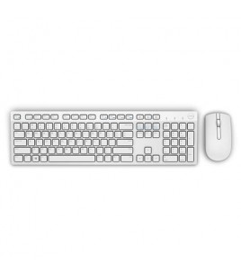 Dell KM636 Wireless Keyboard And Mouse, US/International, White (580-ADGF)