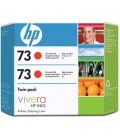 HP 73 Chromatic Red Ink Cartridge (130ml) - 2-pack (CD952A)