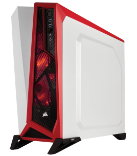 Corsair Carbide SPEC-ALPHA Mid-Tower Gaming Case, White/Red (CC-9011083-WW)