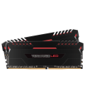 Corsair Vengeance LED 16GB (2x8GB) 3000MHz DDR4 C15, Red Led (CMU16GX4M2C3000C15R)