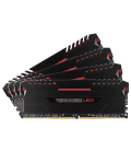 Corsair Vengeance LED 32GB (4x8GB) 2666MHz DDR4 C16, Red Led (CMU32GX4M4A2666C16R)