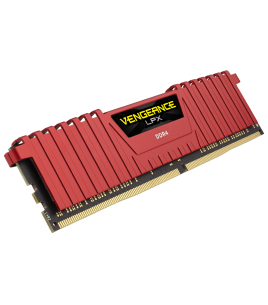 Corsair Vengeance LPX 8GB 2400MHz DDR4 C14, Red (CMK8GX4M1A2400C14R)