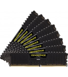 Corsair Vengeance LPX 64GB (8x8GB) 2666MHz DDR4 C16, Black w/ Fan (CMK64GX4M8A2666C16)