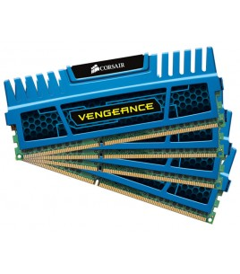 Corsair Vengeance 16GB (4x4GB) 1600MHz DDR3 CL9, Blue (CMZ16GX3M4A1600C9B)