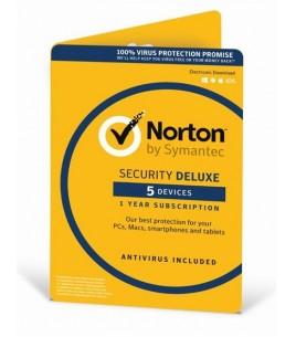 Symantec Norton Security Deluxe 3.0 ESD 5 Devices , 1 Year (21358610)