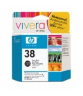HP 38 Photo Black Pigment Ink Cartridge with Vivera Ink (C9413A)