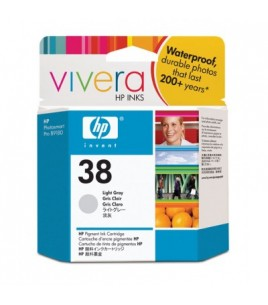 HP 38 Light Grey Pigment Ink Cartridge with Vivera Ink (C9414A)