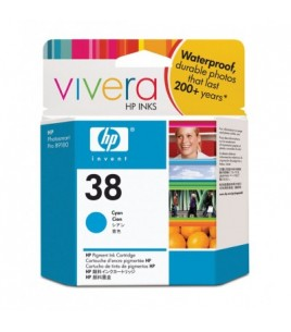 HP 38 Cyan Pigment Ink Cartridge with Vivera Ink (C9415A)