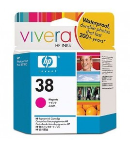 HP 38 Magenta Pigment Ink Cartridge with Vivera Ink (C9416A)