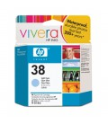 HP 38 Light Cyan Pigment Ink Cartridge with Vivera Ink (C9418A)
