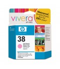 HP 38 Light Magenta Pigment Ink Cartridge with Vivera Ink (C9419A)