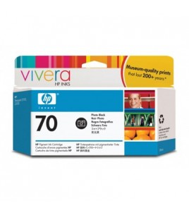 HP 70 130 ml Photo Black Ink Cartridge with Vivera Ink (C9449A)