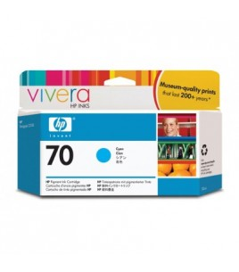 HP 70 130 ml Cyan Ink Cartridge with Vivera Ink (C9452A)