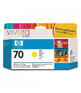 HP 70 130 ml Yellow Ink Cartridge with Vivera Ink (C9454A)