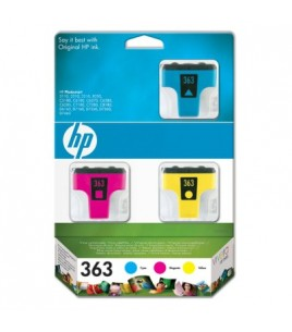 HP 363 3-pack Ink Cartridges 3-pack with Vivera Inks - contains Cyan, Magenta and Yellow Ink Cartridge (CB333EE)