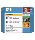 HP 70 2-pack 130 ml Light Magenta Ink Cartridge  (CB346A)